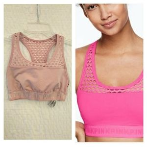 PINK Victoria's Secret Ultimate Mesh Racerback Bra